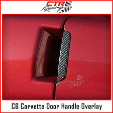 C6 Corvette Door Handles Overlay Decal Black Carbon Fiber 2005-2013