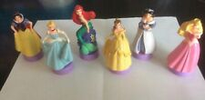 Disney Princess Figures Stamps Ariel Jasmine Belle Cinderella SnowWhite Set Of 6