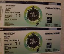 2 Tickets für Night of the Proms (NotP) SAP Arena Mannheim  21.12.2018