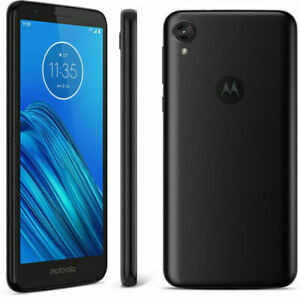 Tracfone Motorola E6 4G LTE Prepaid Cell Phone Black 16GB No Contract