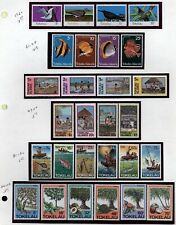 Tokelau Topical collection Birds,flowers,Fish Mint  in mounts jp