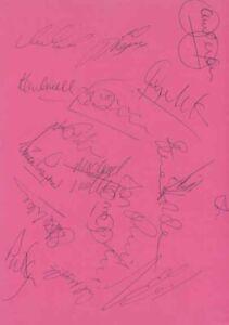 Leicester City FC - Signed Team Sheet - COA (14941)