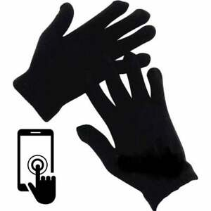 ADULTS Touch Screen New Magic Gloves Stretch Winter Mens Black Ladies Phone UK