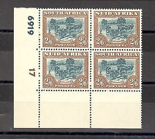 Mint Never Hinged/MNH South African Stamp Blocks (Pre-1961)