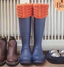 Knitting Pattern for Ladies Welly Toppers