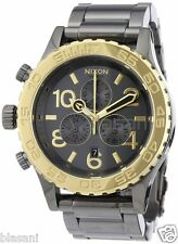 Nixon Original 42-20 Chrono A037-1228 Gun Gold Tone 42mm Watch