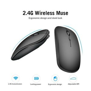 2.4G Wireless USB Rechargeable Bluetooth 5.0 Silent Gaming Mouse for PC Laptops