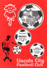 1981/82 Lincoln City v Walsall, Division 3,  PERFECT CONDITION