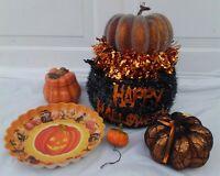Halloween Pumpkins Jack O' Lantern Tray  JUNK DRAWER COLLECTION