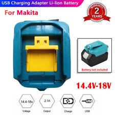 2USB Port Phone Charger Li-ion Battery Adapter fits Makita 18V 14.4V BL1830/1430