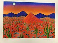 Signed Limited Edition ART Print Joanne Netting Desert sunset  117/2500