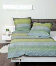 Janine Davos Biber Bettwäsche 200x220 Streifen grün blau gelb  65106-06