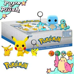 Pokemon Collector Box with Flocked Pikachu & Squirtle Funko Pop Vinyls in Boxes