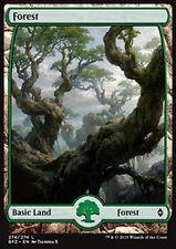 MTG FOREST #274 FOIL - FORESTA FULL ART 5 - BFZ - MAGIC