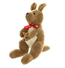 Teddy & Friends Chamois Feel Kangaroo and Joey Plush, 12 Inches