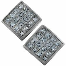 Beautiful 18k White Gold Princess Cut Diamond Earrings