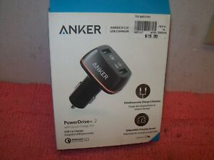 Anker Quick Charge 3.0 42W Dual USB Car Charger PowerDrive+ 2 Power IQ Free ship
