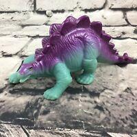 """Vintage 1988 Playskool Dinosaur Stegosaurus 5"""" Figure Blue Purple Collectible"""