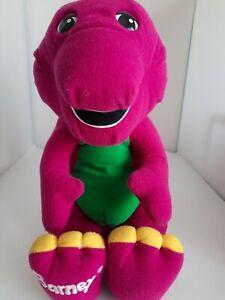 "Barney The Purple Dinosaur 16"" Interactive Talking Plush Playskool 1996"