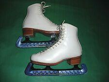 rieddel silver star 355b figure skates size 4 1/2 wilson coronation blade used