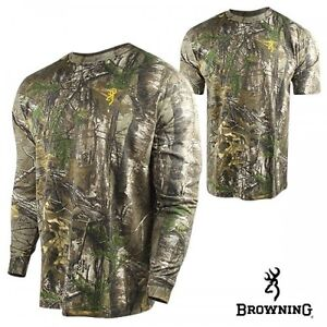 Browning Wasatch Realtree Camo Hunting L/S & S/S Shirt - Choose Size & Sleeve