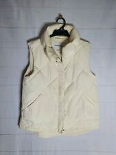 COUNTRY ROAD Size S White Sleeveless Puffer Vest Zip