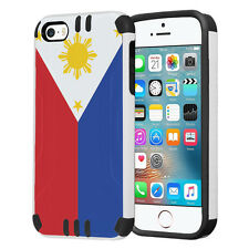 Hybrid Dual Layer Armor Case for iPhone SE / 5S / 5 - Philippines Flag