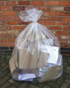 Clear Bin Liners Medium Duty Clear Sacks – 18 x 29 x 39″ (Case of 200)