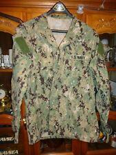 Aor2 Nwu Digital Woodland Camicia USN Blu Navy Misura L Corto W/ Ace Usato