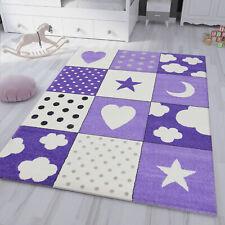 Kinderteppich Teppich Kinderzimmer Lila Babyteppich mit Herz Stern Mond 2019