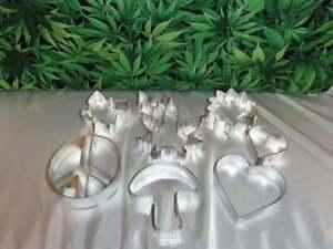 Cookie Cutters, Marijuana, Sunflower, Mushroom, Peace Sign, Butterfly, Heart,