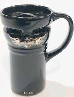 Harley Davidson Ceramic Travel Coffee Mug Cup with lid Destination - Journey
