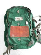 Vintage Schonhofen Leather Trim Internal Frame Backpack Bag Green Seattle