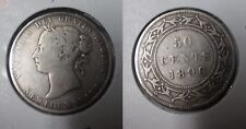Newfoundland Canada 1896 Silver 50 cents