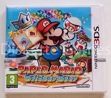 PAPER MARIO STICKER STAR - NINTENDO 3DS - PAL ESPAÑA - NUEVO PRECINTADO - STARS