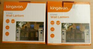 2 Kingavon 6 Sided Wall Lanterns | Thames Hospice