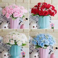 Künstliche Rose Silk Flowers 6 Blüte Blumen Gefälschte Hochzeit Beliebte flYfE