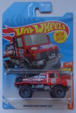 2019 Hot Wheels HW HOT TRUCKS 4/10 Mercedes-Benz Unimog 1300 7/250 (Red)
