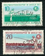 GERMANY DDR OLD STAMPS 1961 - World Championship in Sports Fishing - USED/CTO