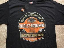 Harley Davidson Live Free Ride Hard black Shirt Nwt Men's Large
