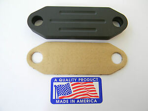 Black Powder Coated Billet EGR Delete/Block Off Mustang 5.0 302 1986-1993  70020