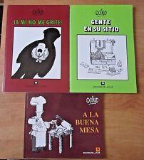 Lot of 3 QUINO - A Mi No Me Grite, A La Buena Mesa and Gente en Su Sitio