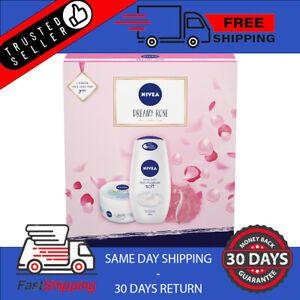 Nivea Dreamy Rose Skincare Bath Gift Set New Womens Girls Christmas Birthday New