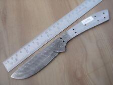 "9"" custom made hunting Damascus steel knife blank blade side ladder 3486"