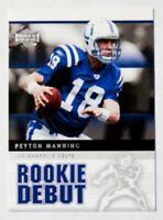 Peyton Manning 2005 Upper Deck Rookie Debut Card #41
