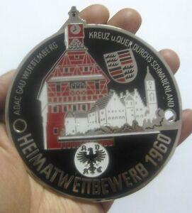 ADAC GERMANY - WUERTTEMBERG HEIMAT RALLYE 1960 Badge  CAR GRILL BADGE EMBLEM