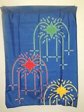 "34"" x 46"" Nylon Printed Flag Banner Fireworks Stars Bright Colors Attention"