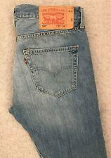 Levis 501 Regular Straight Denim Jeans Mens W33 L34 Blue Red Tab