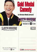 THE LATE SHOW WITH DAVID LETTERMAN CBS TV UNUSED ADVERTISING COLOUR  POSTCARD