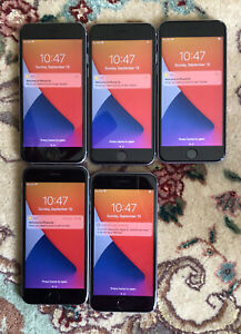 Lot Of 5 Apple iPhone 6s 32GB MN1M2LL/A A1688 Gray Unlocked Excellent Condition